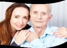happy caregiver width elderly
